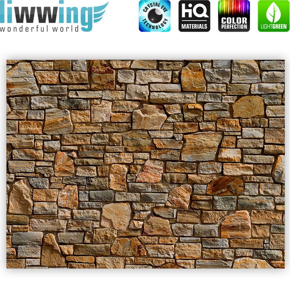 Leinwandbild Steinwand Steinoptik Steine Wand Mauer Stein | no. 155