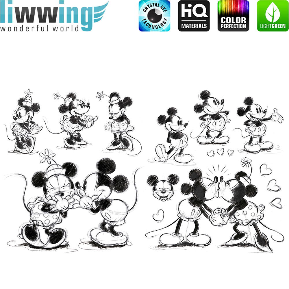 Wandsticker Disney Micky Maus - No. 4719 Wandtattoo Sticker Disney Cartoon  Minnie Mouse Maus