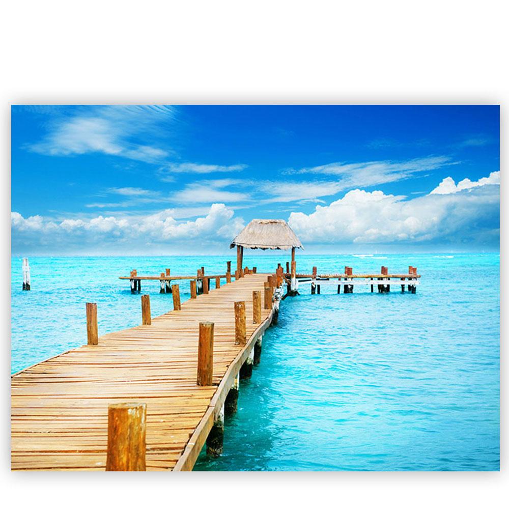 leinwandbild strand meer nordsee ostsee beach wasser blau