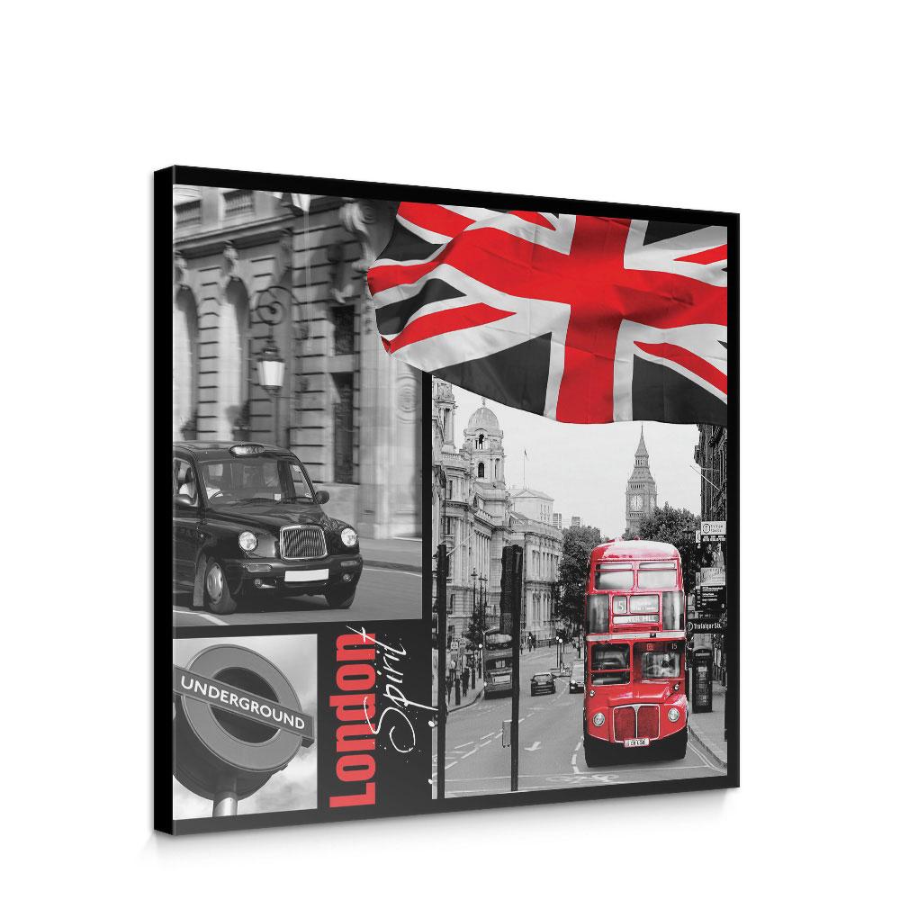Leinwandbild London Bus Flagge Schwarz Weiss Rot Schrift No 286 Kaufen Bei Liwwing By Ennkii Ug