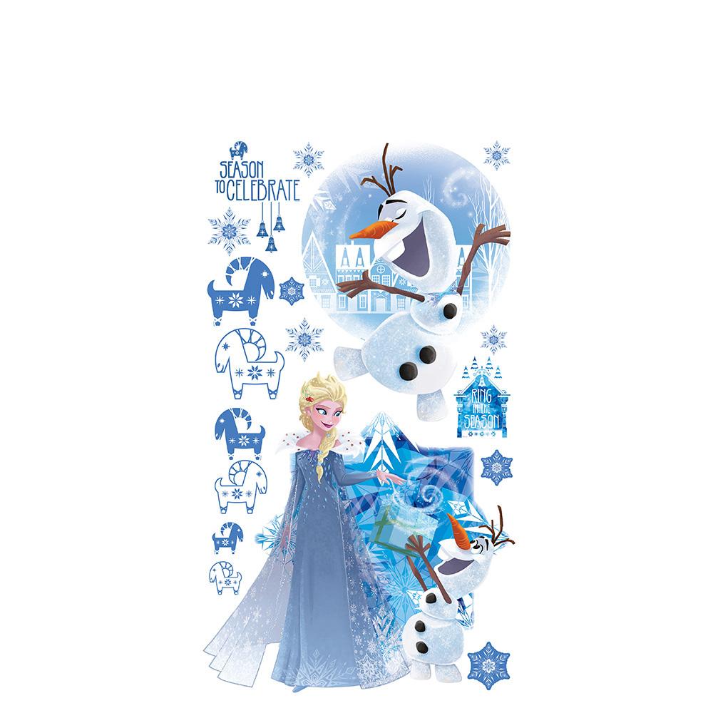 Wandsticker Disney Frozen - No. 4688 Wandtattoo Sticker Kinderzimmer  Eiskönigin Schneemann Anna & Elsa Mädchen