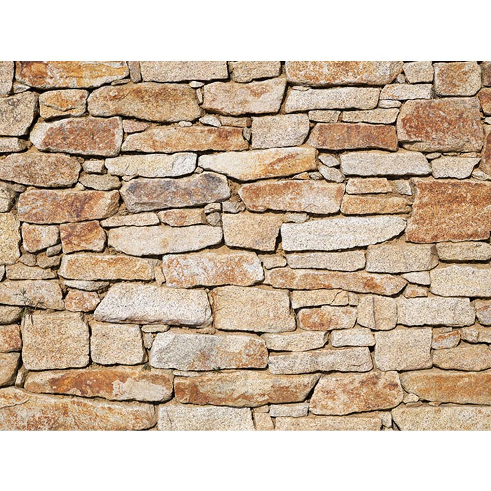 Leinwandbild Steinwand Steinoptik Steine Wand Mauer Stein