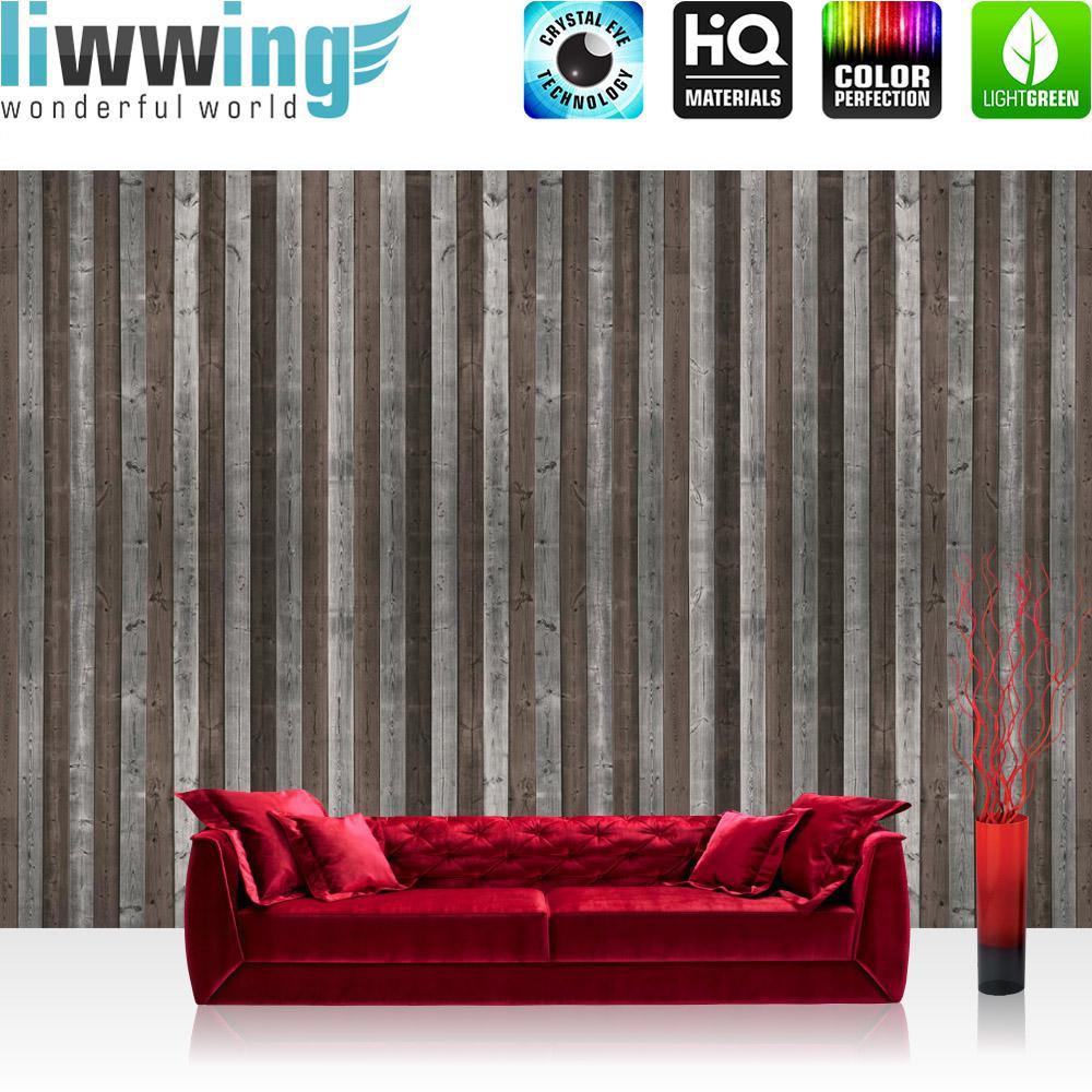 Liwwing Vlies Fototapete 416x254cm PREMIUM PLUS Wand Foto Tapete Wand Bild  Vliestapete   Holz Tapete Holzoptik ...