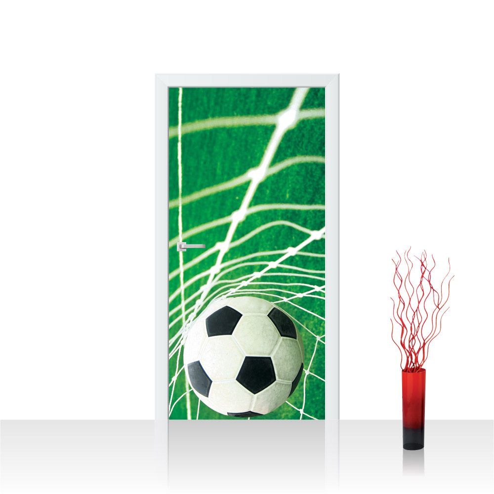 """Fussball Netz Wiese Tür Fototapete /""""no 272/"""" R 91x211 cm liwwing"""
