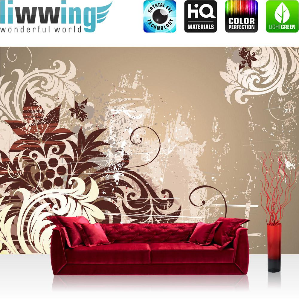 Liwwing Vlies Fototapete 400x280 Cm PREMIUM PLUS Wand Foto Tapete Wand Bild  Vliestapete   Ornamente Tapete ...