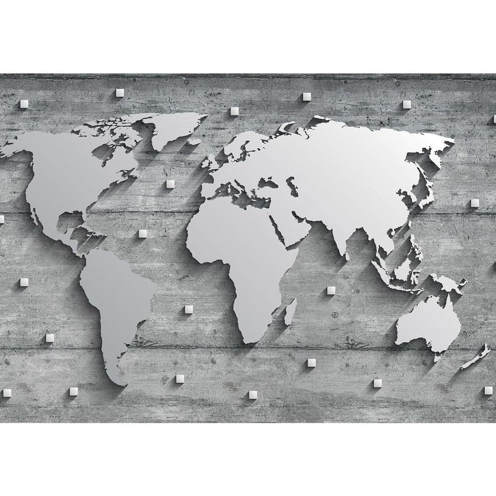 Faszinierend Weltkarte Wand Foto Von Liwwing Fototapete 254x184cm Premium Foto Tapete Bild