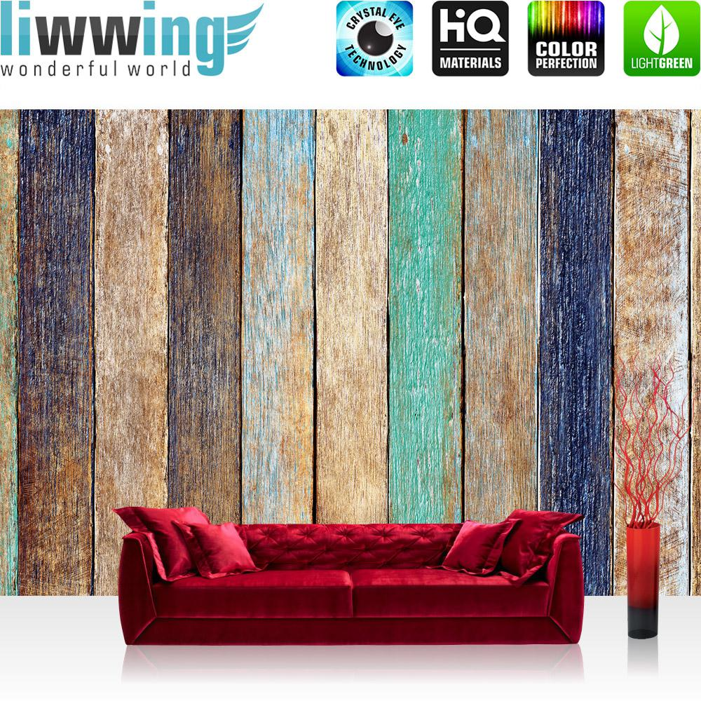 Liwwing Fototapete 368x254 Cm PREMIUM Wand Foto Tapete Wand Bild  Papiertapete   Holz Tapete Holzoptik Kacheln ...