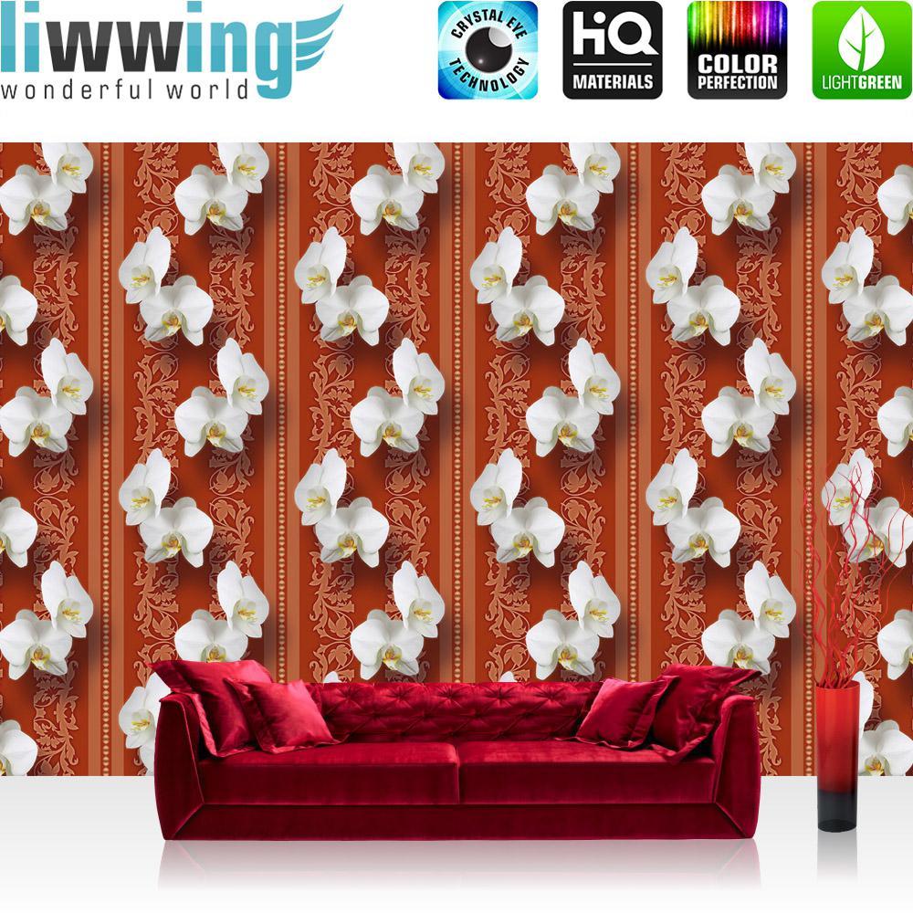 Liwwing Vlies Fototapete 416x254cm PREMIUM PLUS Wand Foto Tapete Wand Bild  Vliestapete   Orchideen Tapete Blumen ...