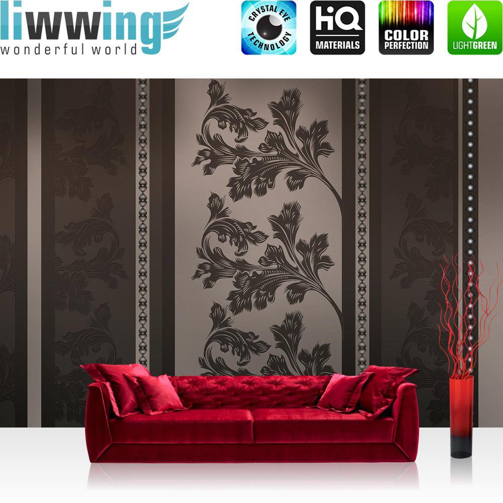 Liwwing Vlies Fototapete 416x254cm PREMIUM PLUS Wand Foto Tapete Wand Bild  Vliestapete   Kunst Tapete Blumen ...