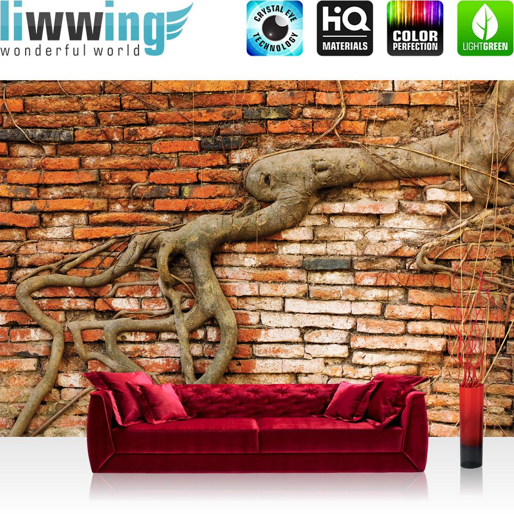 Liwwing Vlies Fototapete 312x219cm PREMIUM PLUS Wand Foto Tapete Wand Bild  Vliestapete   Steinwand Tapete Backsteinmauer ...