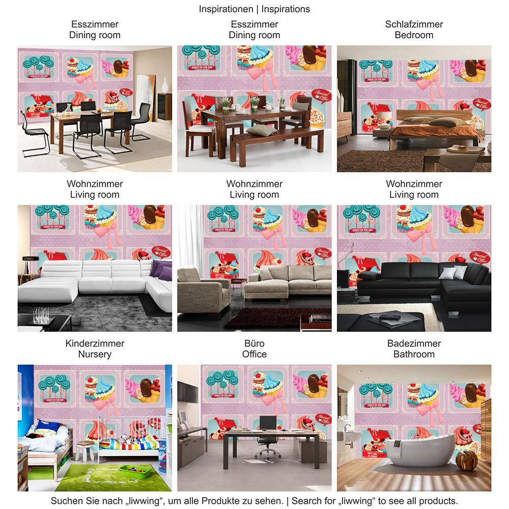 Liwwing Vlies Fototapete 104x505cm Premium Plus Wand Foto Tapete