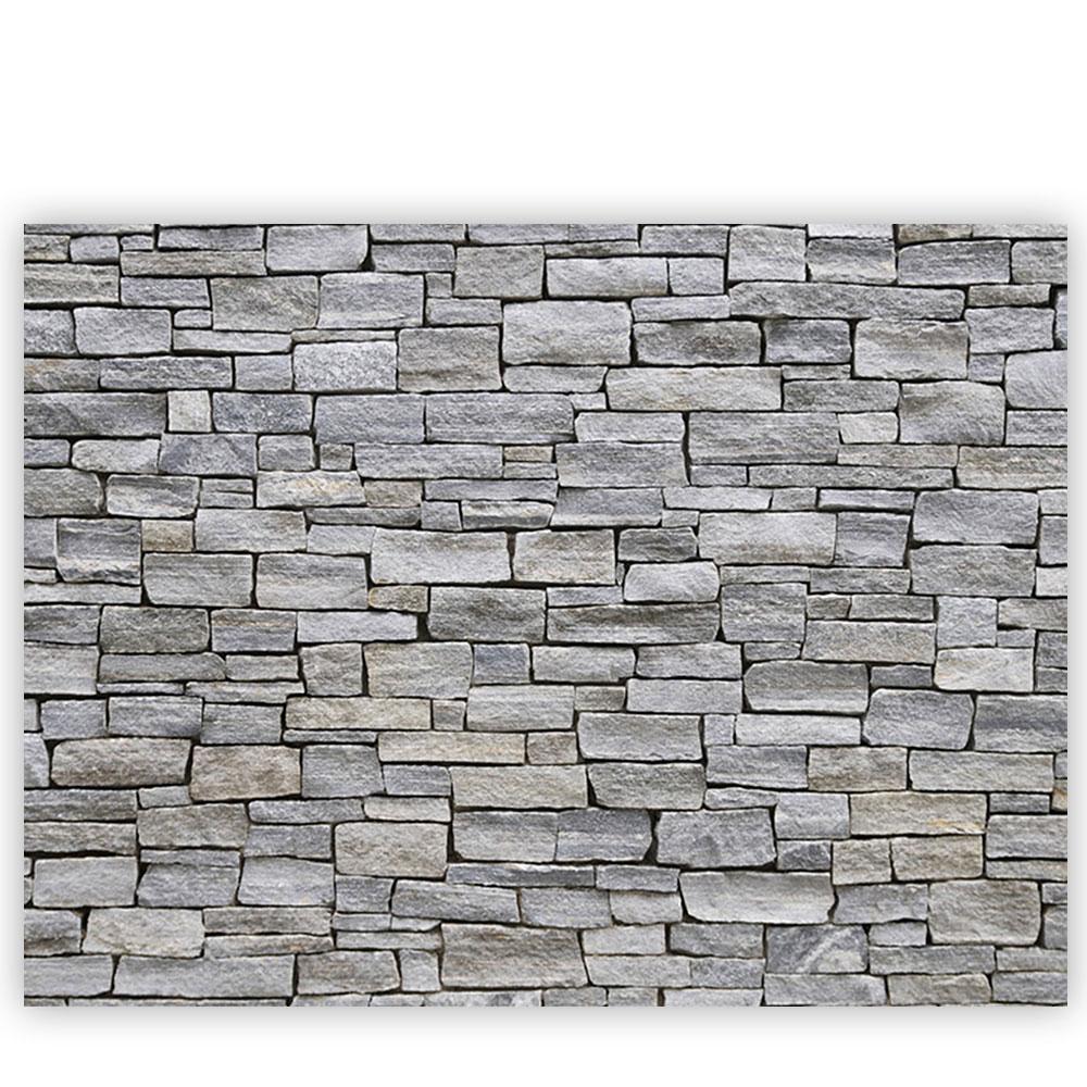 Leinwandbild Steinwand Steinoptik Steine Wand Mauer Stein | no. 162