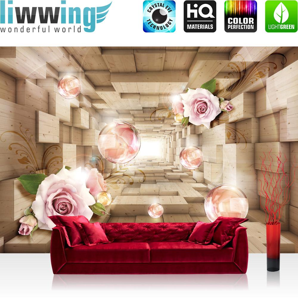 liwwing fototapete 254x168 cm premium wand foto tapete wand bild papiertapete 3d tapete tunnel. Black Bedroom Furniture Sets. Home Design Ideas