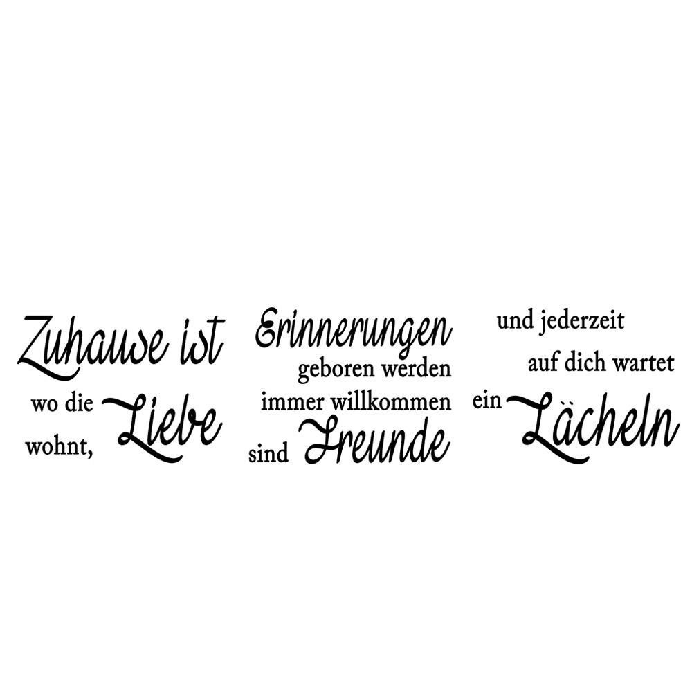 Wandsticker No 4848 Wandtattoo Sticker Zuhause Liebe Erinnerung Freunde Lächeln Schrift Spruch Sprüche