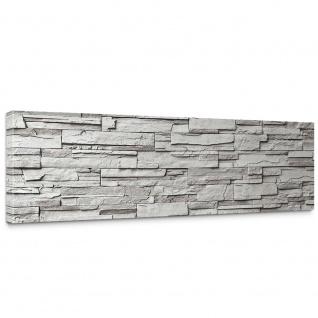 Leinwandbild Noble Grey Stone Wall Steinwand Steine Wand Wall | no. 19