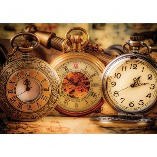 Fototapete Kunst Tapete Uhr Taschenuhr Zeit Zahlen braun | no. 2200
