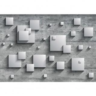Fototapete Holz Tapete Holzwand Rechtecke Platten Kunst Design 3D Optik grau | no. 885