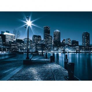 Leinwandbild Laterne Nacht New York Skyline Lichter Fluss | no. 856 - Vorschau 3