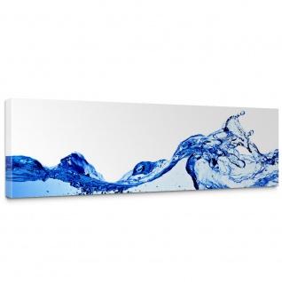 Leinwandbild Ozean Meer Wasser See Welle Sturm Blau Türkis   no. 153