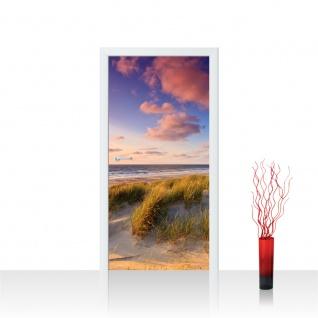Türtapete - Strand Düne Sonnenuntergang Beach Sand   no. 245