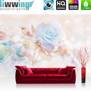 liwwing Vlies Fototapete 104x50.5cm PREMIUM PLUS Wand Foto Tapete Wand Bild Vliestapete - Blumen Tapete Rose Blumen Pflanzen bunt - no. 1866