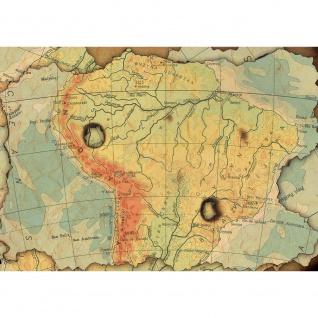 Fototapete Städte & Länder Tapete Landkarte Karte Kontinent Vintage Globus Atlas Reise gelb | no. 4313