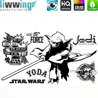 Wandsticker Disney Star Wars - No. 4671 Wandtattoo Sticker Kinderzimmer Laserschwert Weltall Raumschiffe Jungen