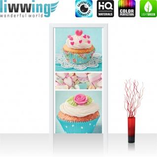 Türtapete - Cupcake Herz Rose Marshmallow   no. 411 - Vorschau 2