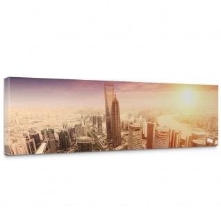 Leinwandbild Shanghai Sunset Skyline Skyline Shanhai Wolkenkratzer Hochhäuser | no. 50