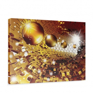 Leinwandbild Abstrakt Kugel Puzzle Tunnel Licht 3D   no. 949