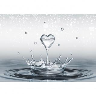 Fototapete Wasser Tapete Herz Wasser Splash grau   no. 1771