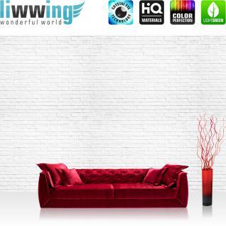 liwwing Vlies Fototapete 416x254cm PREMIUM PLUS Wand Foto Tapete Wand Bild Vliestapete - Steinwand Tapete Stein Wand Steine weiß - no. 1223