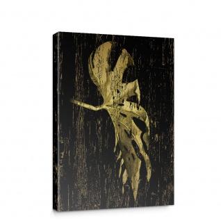 Leinwandbild Blätter Abstrakt Palmenblatt Kunst | no. 5722