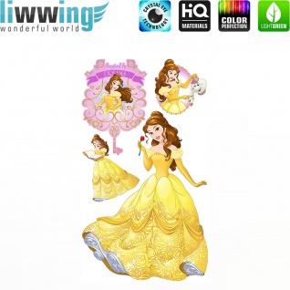 Wandsticker Disney Princesses - No. 4679 Wandtattoo Sticker Kinder Schneewitchen Arielle Cinderella Dornröschen