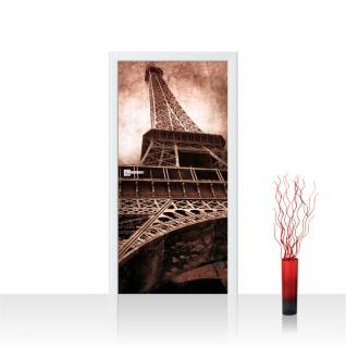 Türtapete - Eiffelturm Paris Wolken Vintage | no. 644