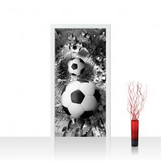 Türtapete - Abstrakt Fußball Rechteck | no. 979