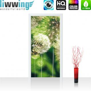 liwwing Vlies Türtapete 91x211 cm PREMIUM PLUS Tür Fototapete Türposter Türpanel Foto Tapete Bild - Pusteblumen Wiese - no. 285