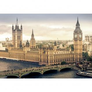 Fototapete London Tapete Skyline Big Ben Fluss Brücke sepia   no. 1409
