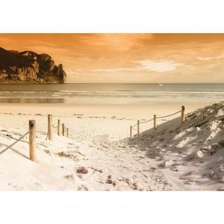 Fototapete Strand Tapete Stand Sonnenaufgang Meer beige | no. 1235