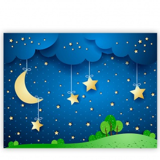 Leinwandbild Dreaming Night Kinder Sternenhimmel Stars Sterne Leuchtsterne | no. 120 - Vorschau 2