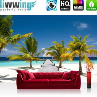 liwwing Vlies Fototapete 400x280 cm PREMIUM PLUS Wand Foto Tapete Wand Bild Vliestapete - Strand Meer Beach - no. 165