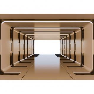 Fototapete 3D Tapete Metalloptik Metall Aufzug Kunst Illustration gold | no. 2721