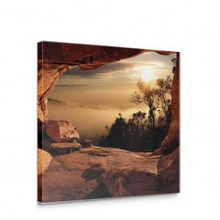 Leinwandbild Schlucht Wald Bäume Natur Ansicht Nebel Ausblick | no. 4925