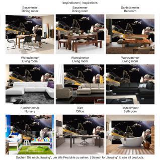 liwwing Vlies Fototapete 416x254cm PREMIUM PLUS Wand Foto Tapete Wand Bild Vliestapete - Kindertapete Tapete Star Wars Weltall Raumschiffe Planet schwarz - no. 2664 - Vorschau 5