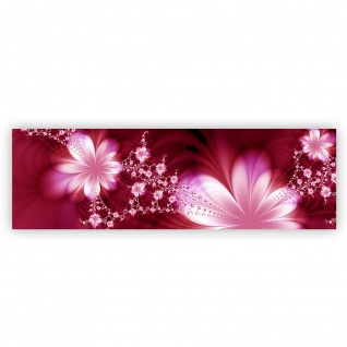 Leinwandbild Red Flower Ornaments Ornamente Blumen Orchidee Rot Blumenranke | no. 40 - Vorschau 2