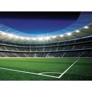 Leinwandbild Fußballstadion Eckpunkt Flutlicht Rasen Tor Tribüne Fans Lichter Sterne Nacht | no. 945 - Vorschau 3