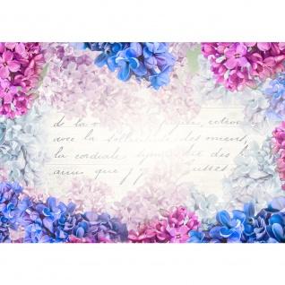 Fototapete Kunst Tapete Aquarell Blume Schrift Kunst Typografie bunt | no. 1343