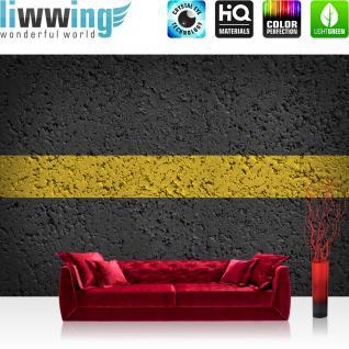 liwwing Vlies Fototapete 416x254cm PREMIUM PLUS Wand Foto Tapete Wand Bild Vliestapete - Texturen Tapete Asphalt Texture Markierung Straße schwarz - no. 1298