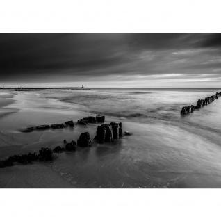 Fototapete Meer Tapete Wasser Himmel Strand schwarz - weiß | no. 2221