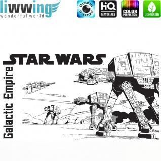 Wandsticker Disney Star Wars - No. 4672 Wandtattoo Sticker Kinderzimmer Laserschwert Weltall Raumschiffe Jungen